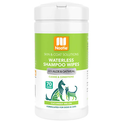 Nootie Waterless Shampoo Wipes Cucumber Melon 70 Count