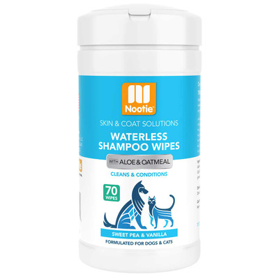 Nootie Waterless Shampoo Wipes Sweet Pea Vanilla 70 Count
