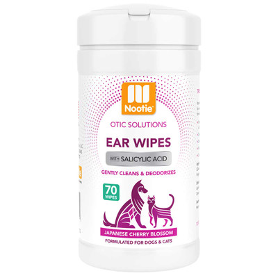 Nootie Ear Wipes Japanese Cherry Blossom 70 Count