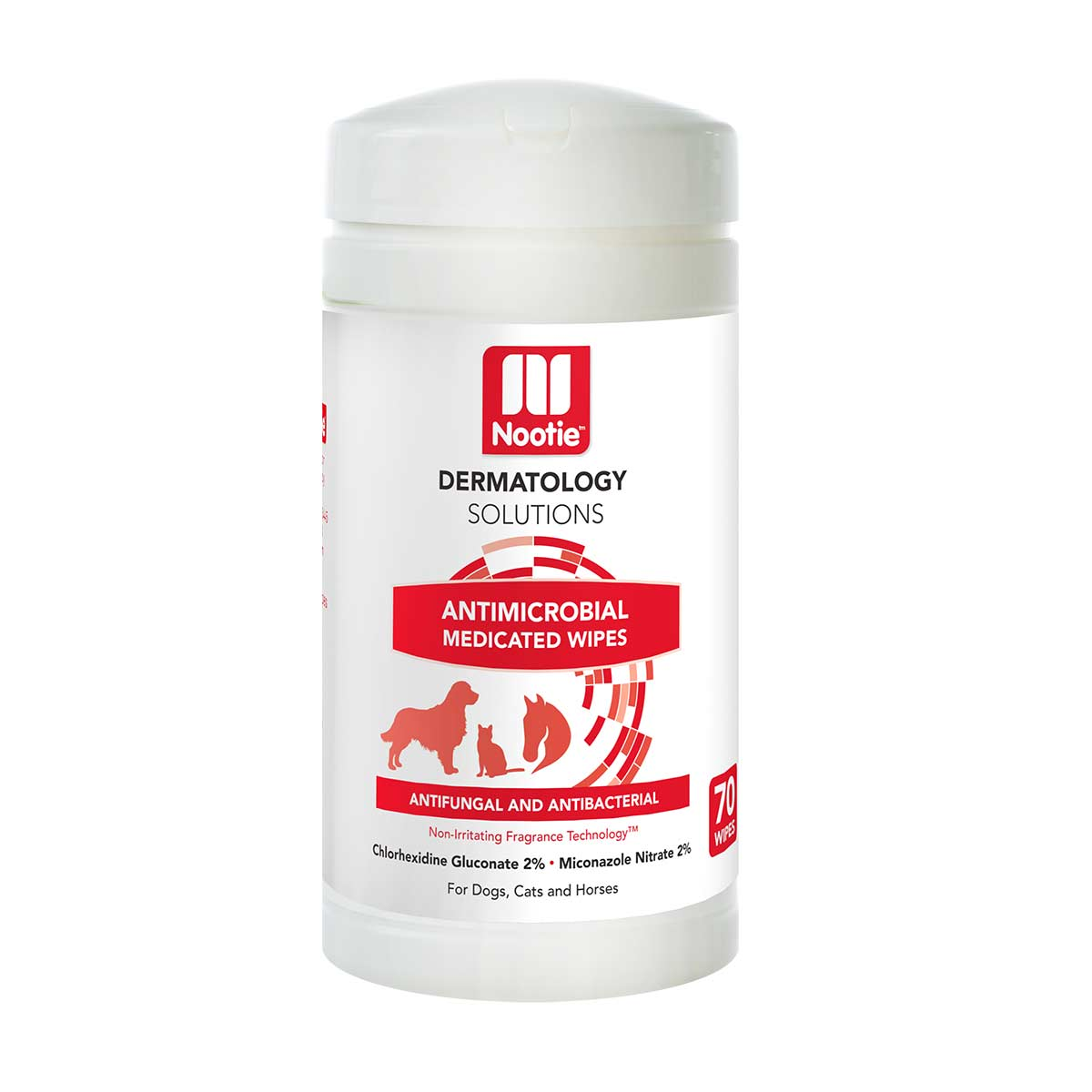 70 Count Nootie Medicated Antimicrobial Wipes for Dogs available at Ryan's Pet Supplies