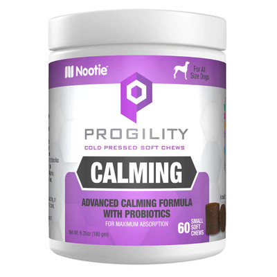 60 Count Nootie Progility Calming Soft Chews Supplements for Dogs