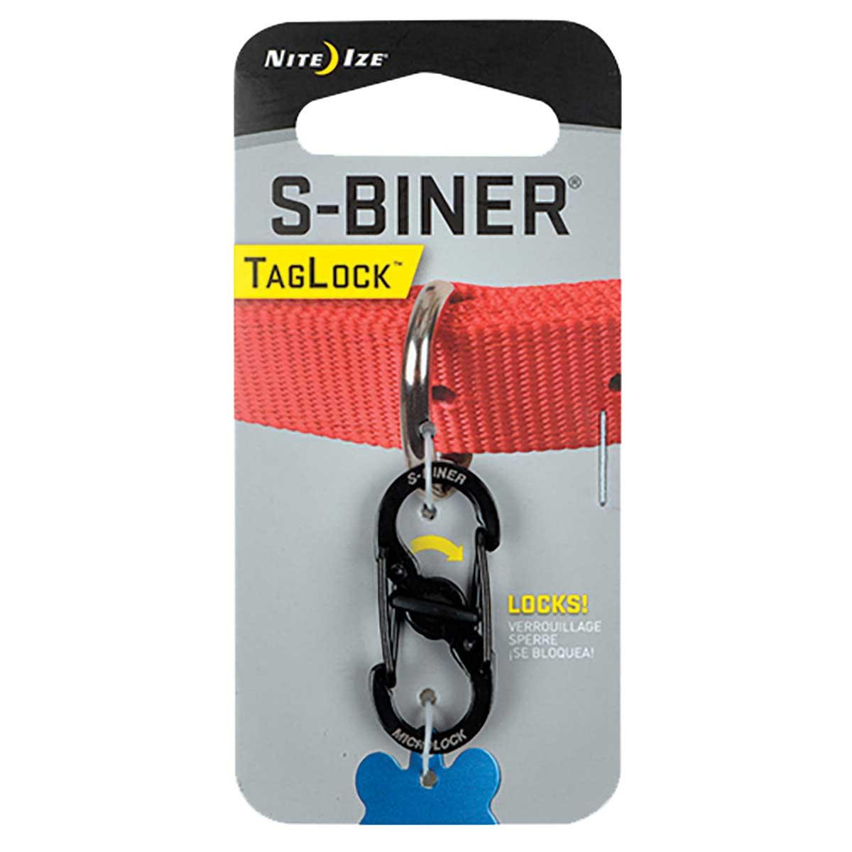 Nite Ize S-Biner Taglock for Dog Collars - Black Stainless