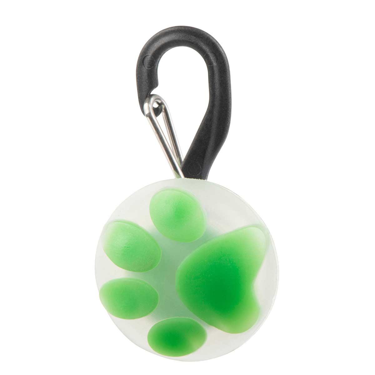 Nite Ize Petlit LED Collar Light Lime Paw