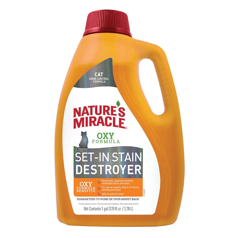 Gallon of Cat Nature's Miracle Set in Stain Destroyer at Ryan's Pet Supplies