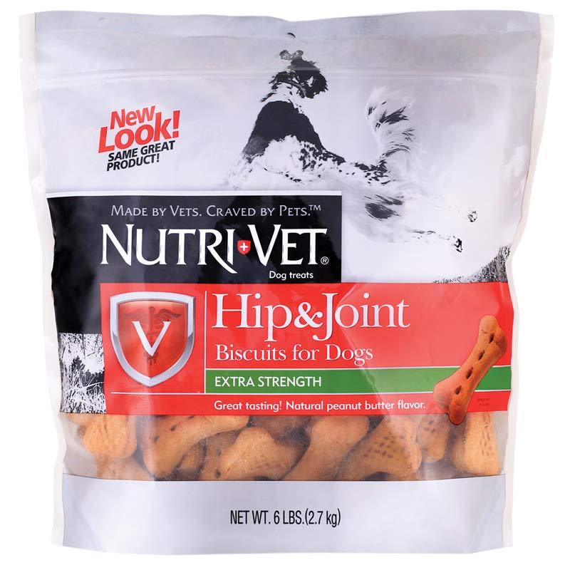 Nutri-Vet Extra Strength Hip & Joint Biscuits for Large Dogs 6 lb Bag