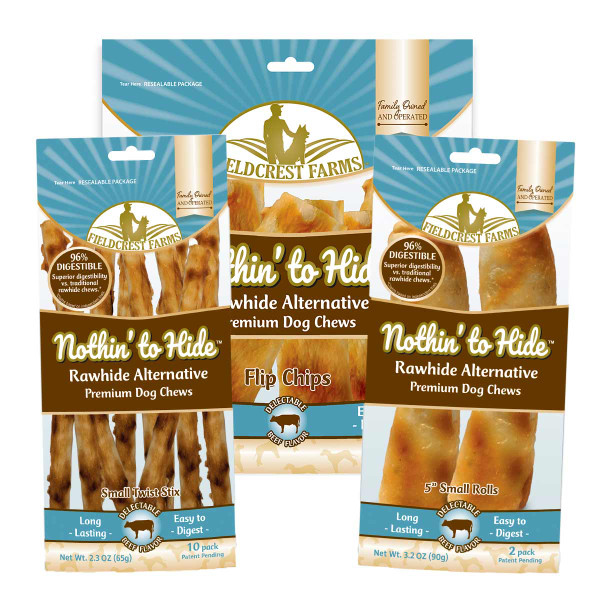 Nothin' to Hide Rawhide Alternative Beef Rolls available now at Ryan's Pet Supplies