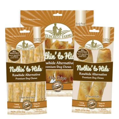 Nothin' to Hide Rawhide Alternative Peanut Butter Rolls for pets