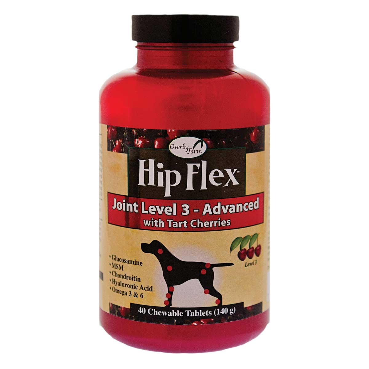 Overby Farm Hip Flex Joint Level Three Advanced - 40 Count, 140 g