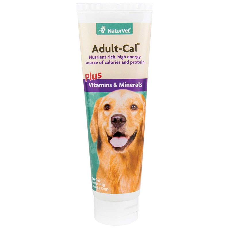 NaturVet Adult-Cal Plus Vitamins & Minerals Gel for Dogs 5 oz