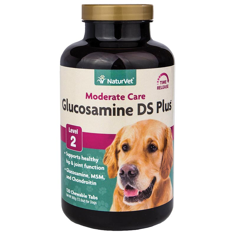 NaturVet Glucosamine Ds Plus MSM & Chondroitin Time Release Supplement for Dogs - 120 Tabs