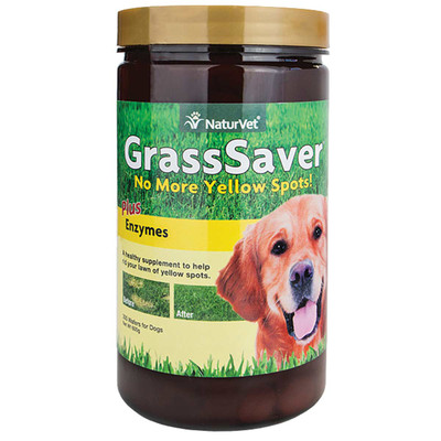 NatureVet GrassSaver Pluz Enzymes Chewable Wafers for Dogs - 300 Count