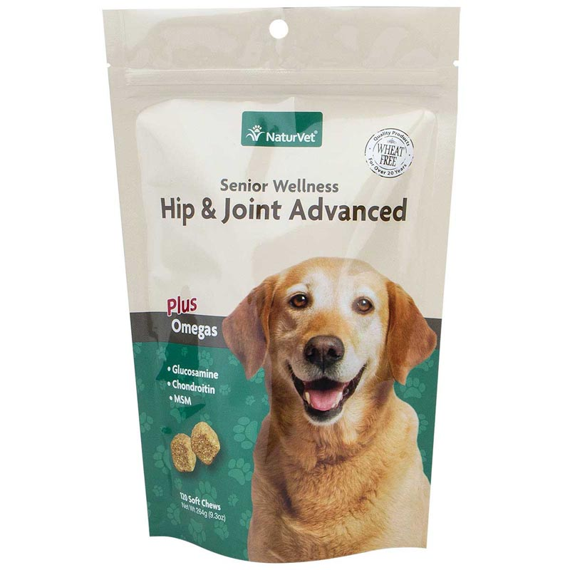 NaturVet Senior Hip & Joint Advanced Soft Chews for Dogs - 120 Count