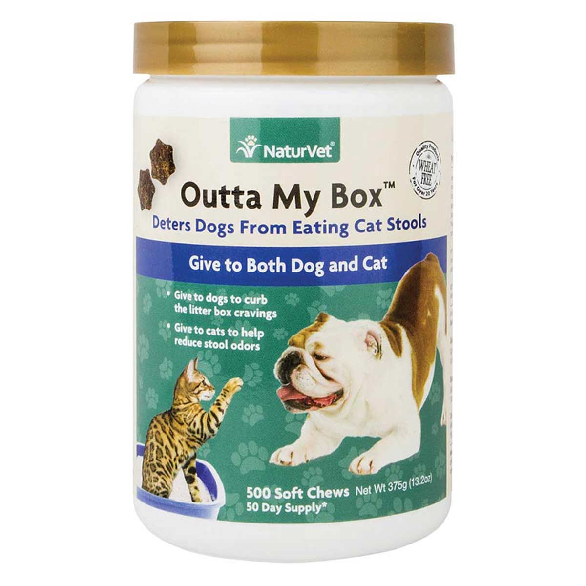 NaturVet Outta My Box Soft Chews for Dogs and Cats - Jar 500 count