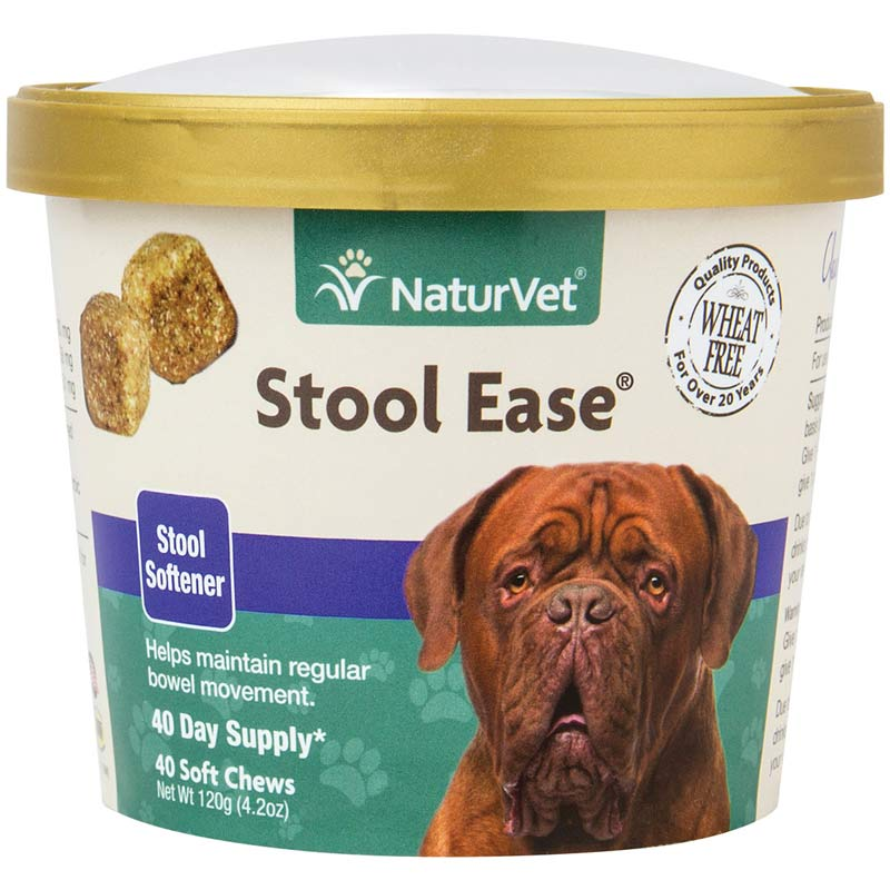 NaturVet Stool Ease Stool Softener 40 Count