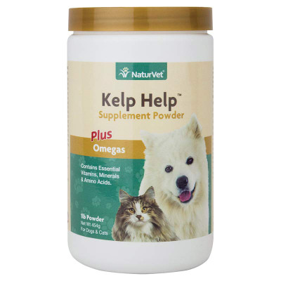 NaturVet Kelp Help Supplement Powder Plus Omegas 1 lb