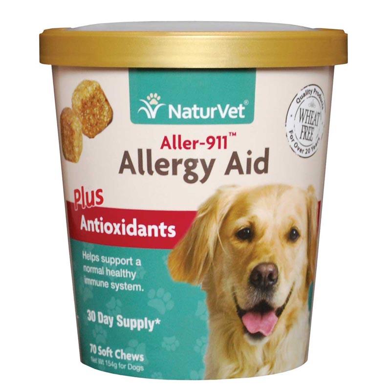NaturVet Aller-911 Allergy Aid Plus Antioxidants Dog 70 Count Soft Chews