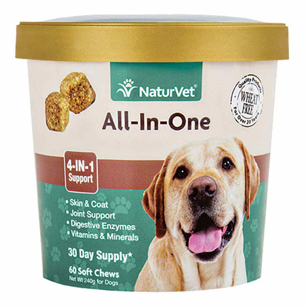 NaturVet All-in-One Soft Chew for Dogs - 60 Count