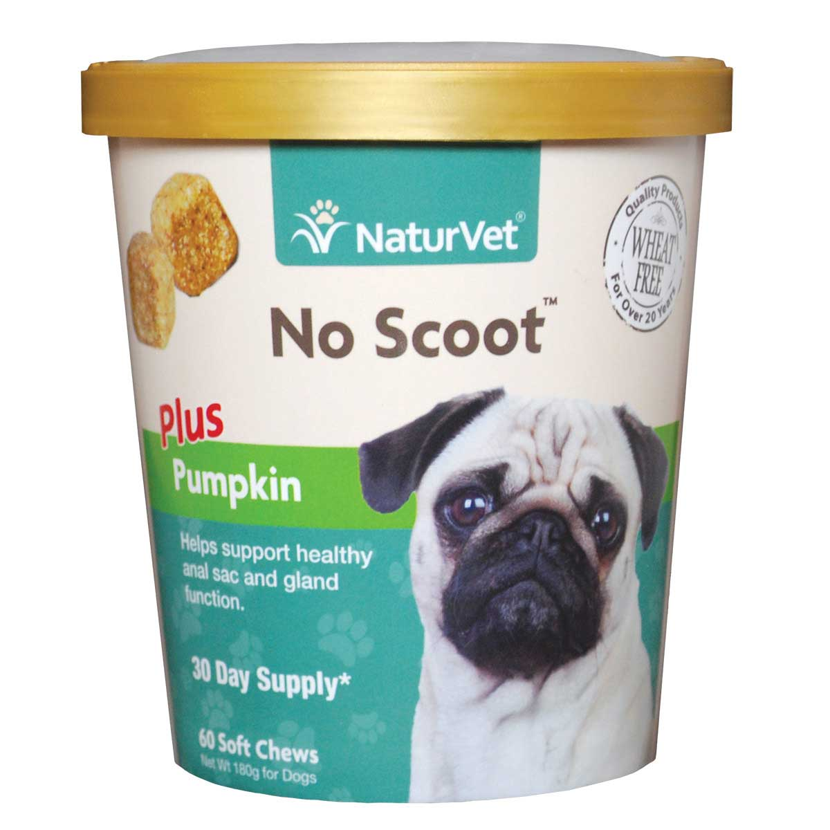NaturVet No Scoot Plus Pumpkin Fiber Supplements for Dogs - 60 Count