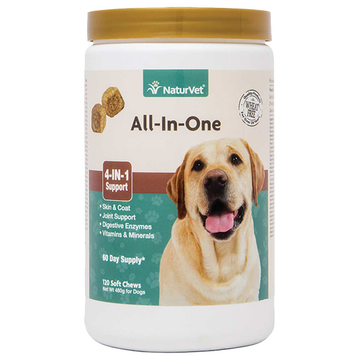 NaturVet All-in-One Vitamin Soft Chew for Dogs - 120 Count
