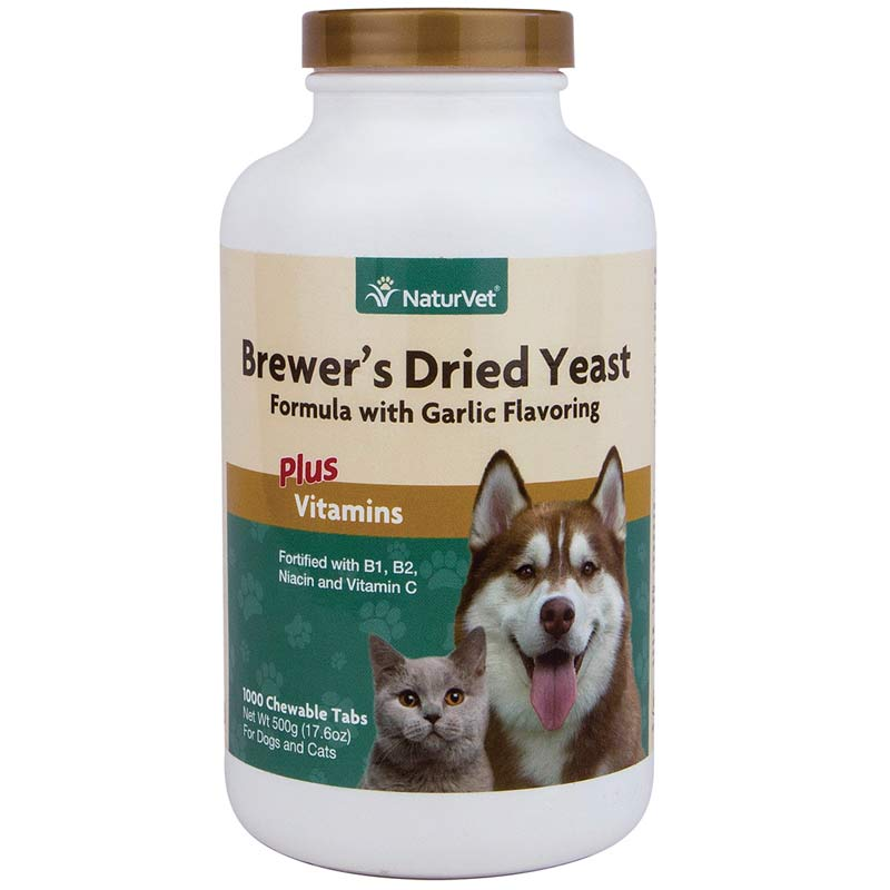 NaturVet Brewer's Yeast With Garlic 1000 Tablets for Dogs