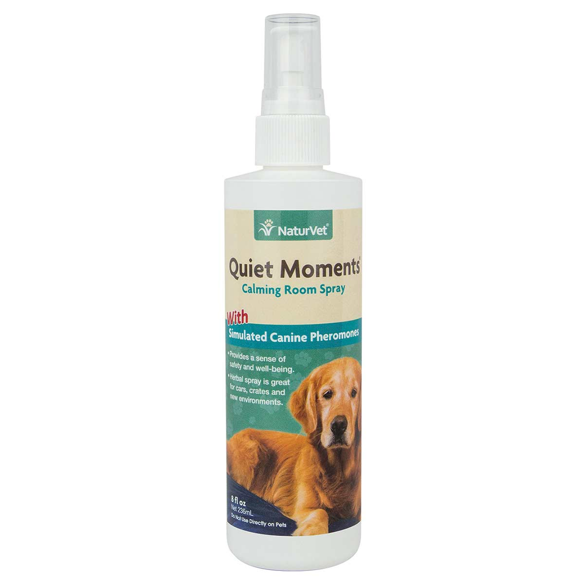 NaturVet Quiet Moments Calming Room Spray For Dogs 8 oz
