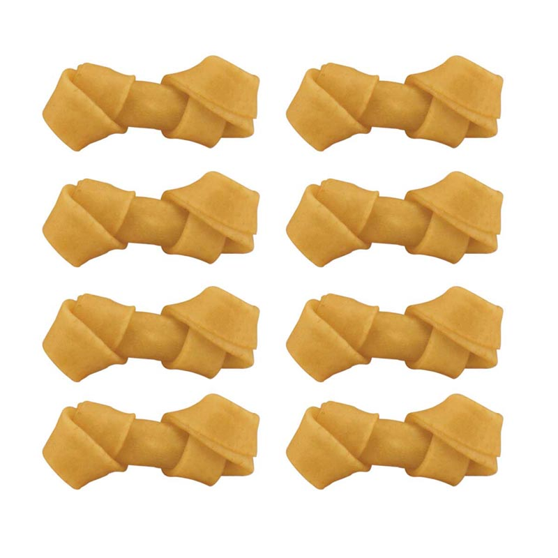 8 Pack 2.5 inch Rolled Rawhide Bones for Small Dogs