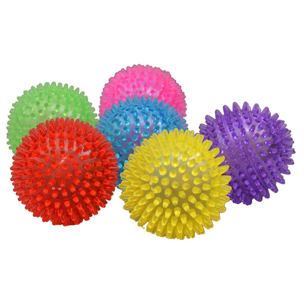 Amazing Pet Spikey Light Ball 4 inch Dog Toy