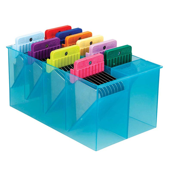 Oster Stainless Steel Attachment Guide Comb Set in Translucent Organizer Case