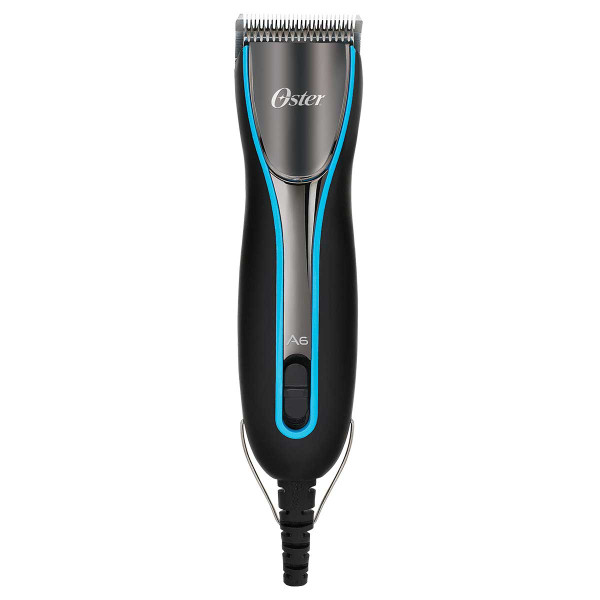 Oster A6 Cool Comfort Heavy Duty 3 Speed Dog Grooming Clipper with #10 Grooming Blade - Aqua Sky