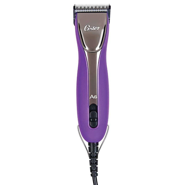Purple Pop Oster A6 Slim Heavy Duty 3 Speed Clipper with 10 Blade