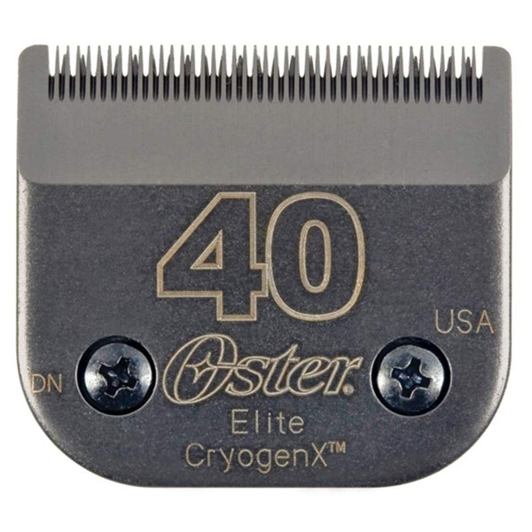 #40 Oster Elite Cryogen-X Blade for Dog Grooming - Cuts 1/100 inch - available at Ryan's Pet Supplies