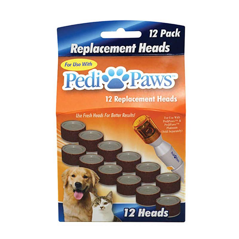 12 Pack Pedi Paws Replacement Heads