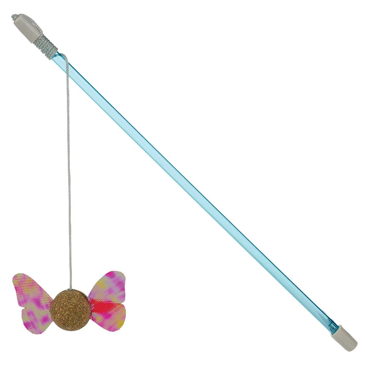 Our Pet Corknip Winged Wand Cat Toy - 14""