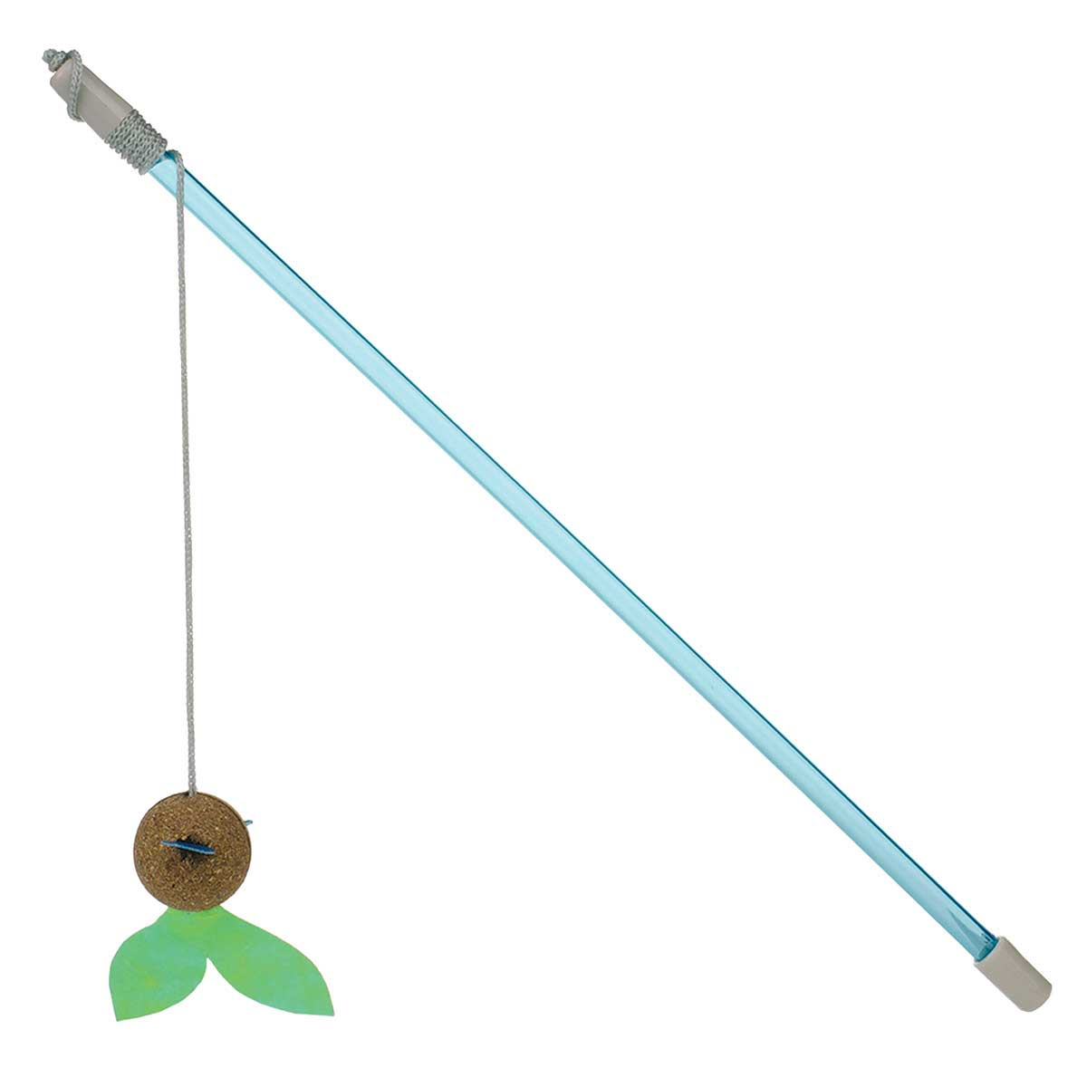 Our Pet Corknip Fish Swish Wand Toy for Cats - 14 inch