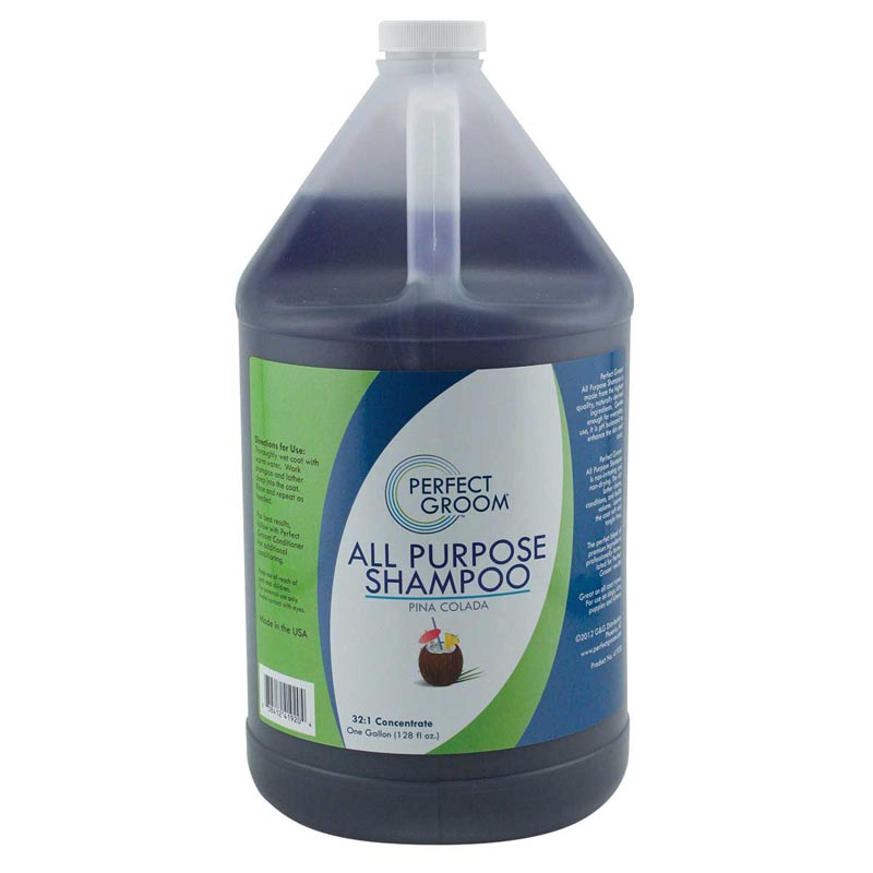 Perfect Groom Professional All Purpose Pet Grooming Shampoo Concentrated 32:1 Gallon