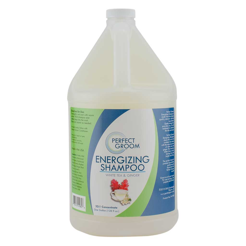 Perfect Groom Energizing Shampoo for Dogs and Pets with White Tea & Ginger 32:1 Gallon