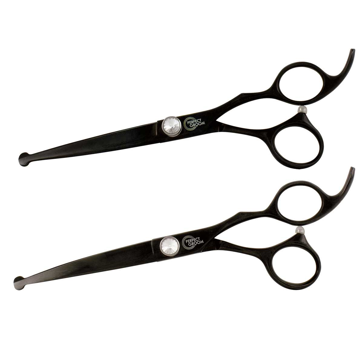 Perfect Groom 6.5 inch Ball Tip Shears - Curved/Straight Combo