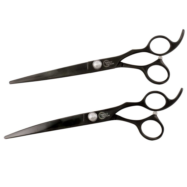 Perfect Groom 7.5 inch Shears - Curved and Straight Combo
