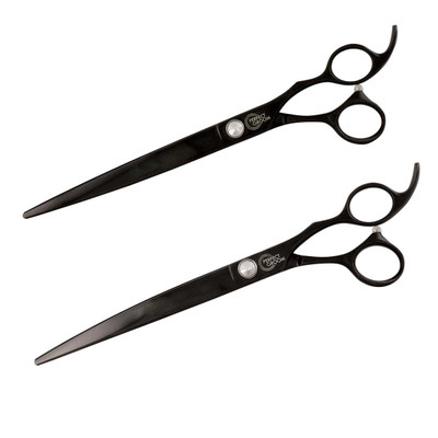 Perfect Groom Shear Combo includes Curved and Straight 8.5 inch Shears