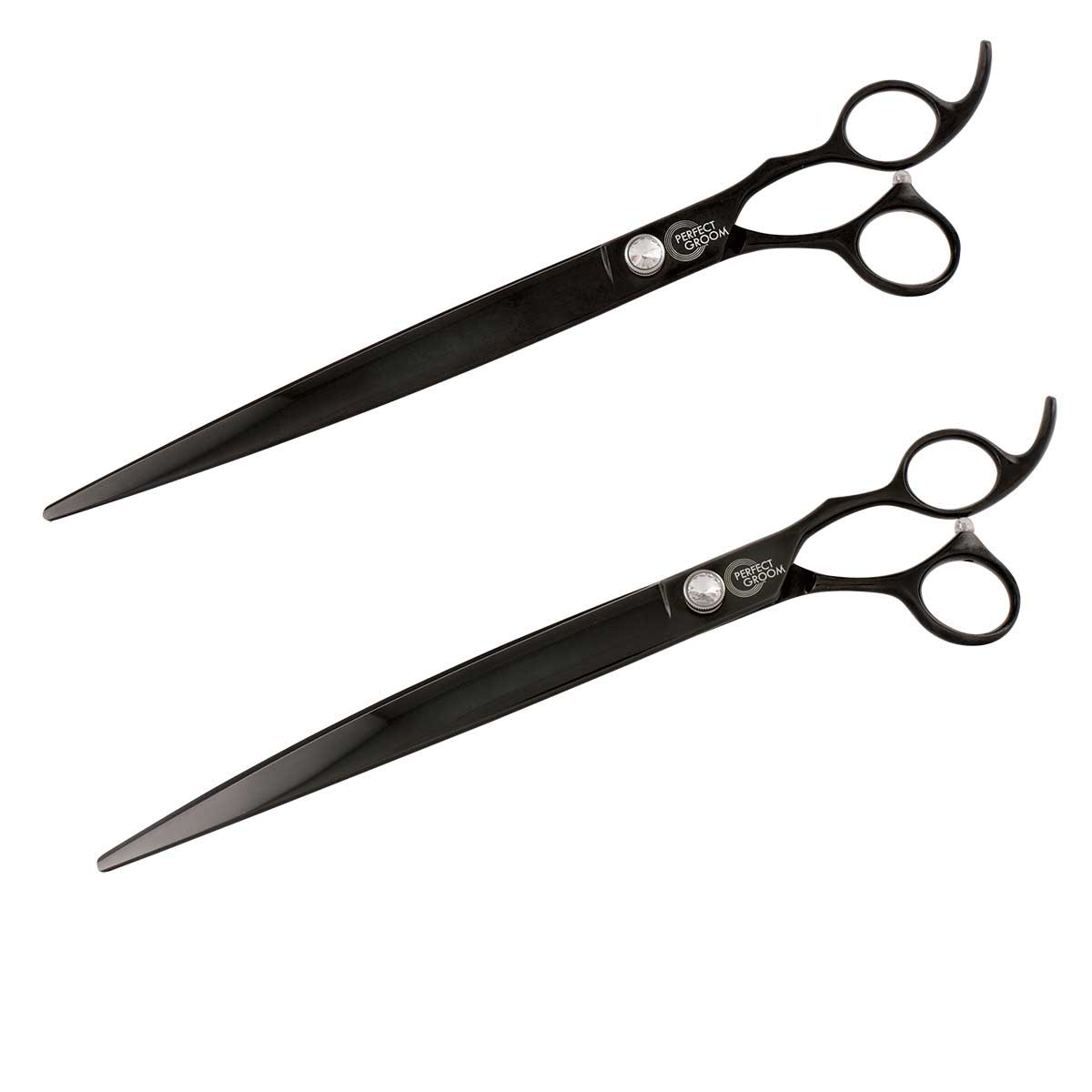 "Perfect Groom Shear Combo includes 10"" Curved Shear and 10 inch Straight Shear"