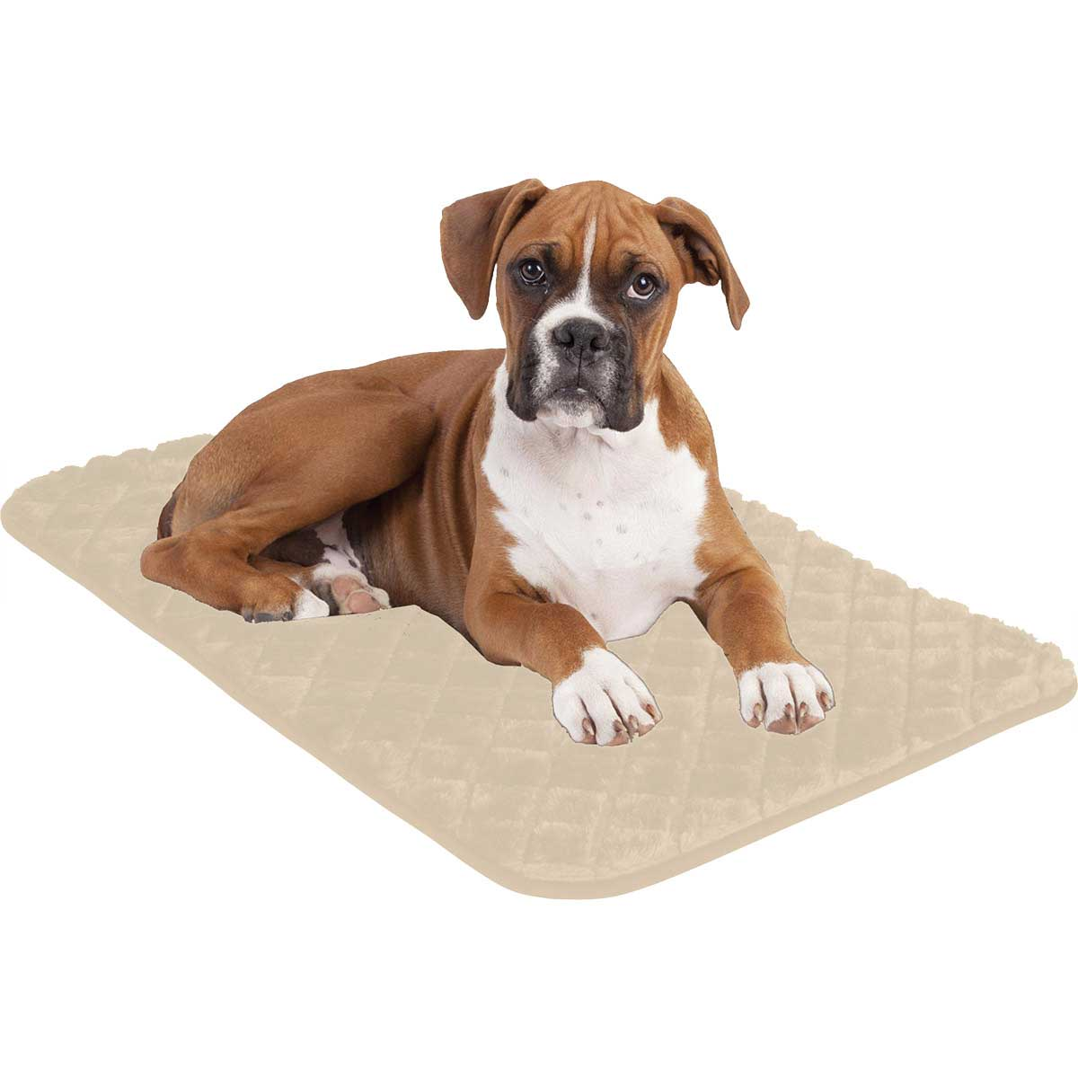 Tan Snoozzy Sleeper Natural Pet Mat 35 inches X 23 inches