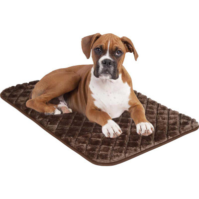 Brown Snoozzy Sleeper Pet Mat in Chocolate - 27 inches by 18 inches