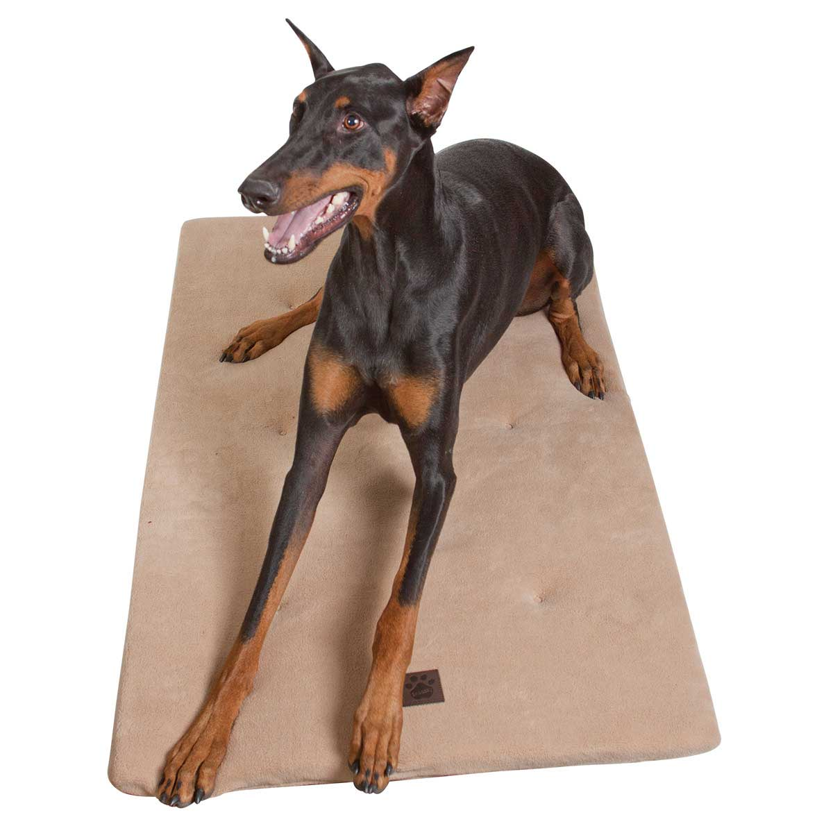 Snoozzy Tan Dog Mattress - 22.75 inches by 16 inches