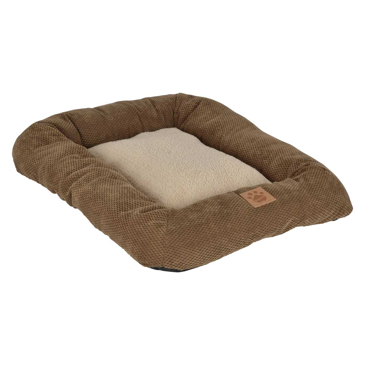 Snoozzy Low Bumper Tan Crate Mat for Dogs 25 inches by 20 inches