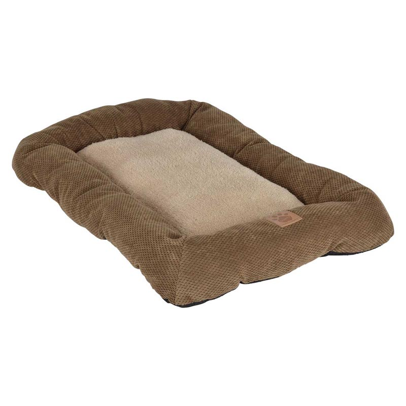 Snoozzy Low Bumper Tan Dog Crate Mat 31 inches by 21 inches