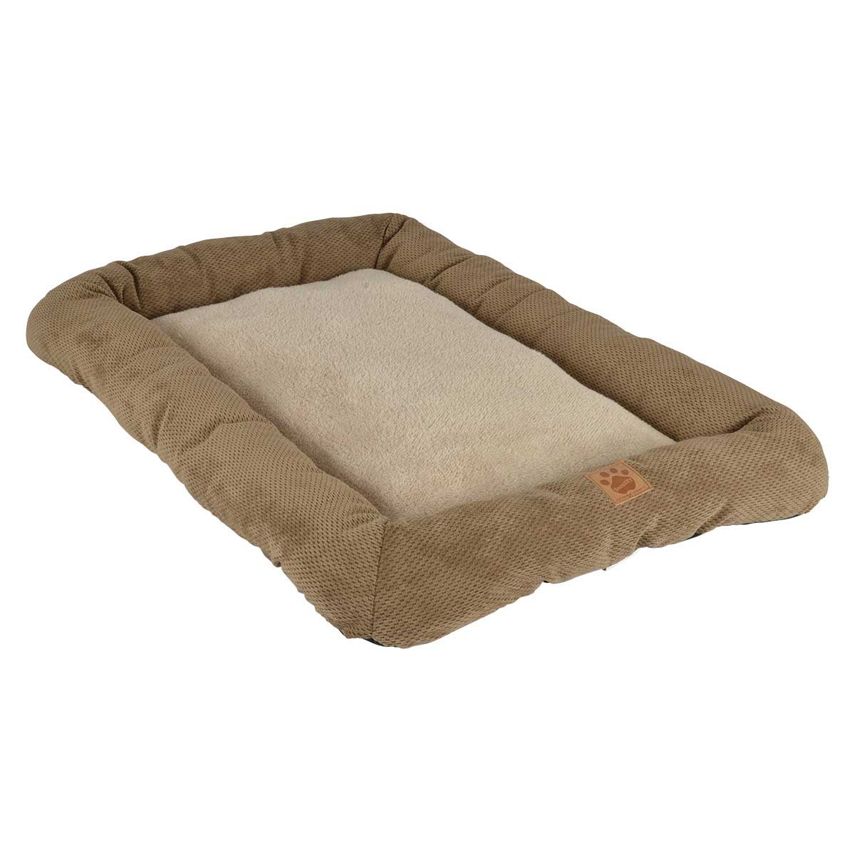 Tan Snoozzy Low Bumper Crate Mat 37 inches by 25 inches