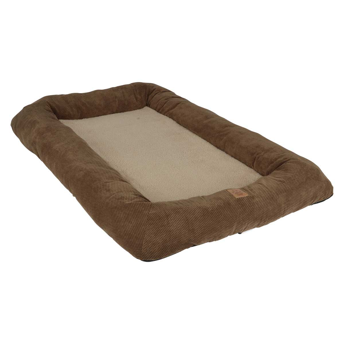 Snoozzy Low Bumper Tan and Brown Crate Mat - 51 inches by 33 inches