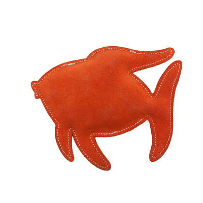 7 inch Coral Fish Dawgee Play Flat Suede Crackle Paper Dog Toy