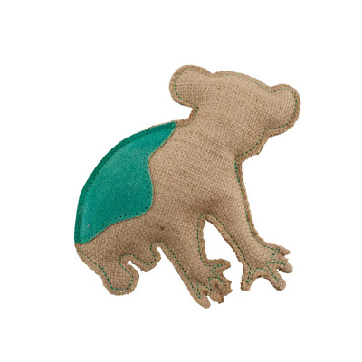 Dawgeee Play Flat Suede & Canvas Mint Koala 7.5 inch Dog Toy