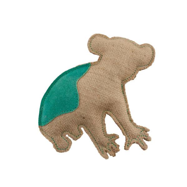 Dawgeee Play Flat Suede & Canvas Mint Koala 7.5 inch Dog Toy